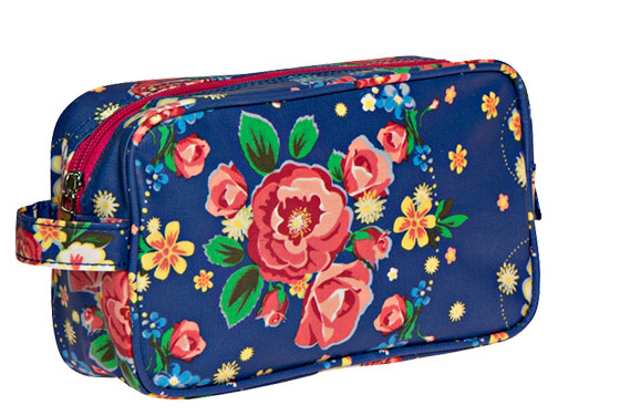 Toilettas blauw Rose Blossom - Kitsch Kitchen