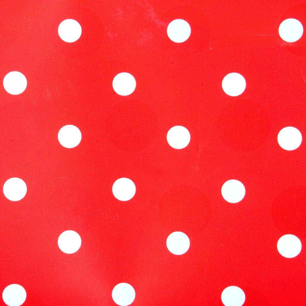 Plakplastic zelfklevende folie - Kitsch Kitchen - rood/witte stippen