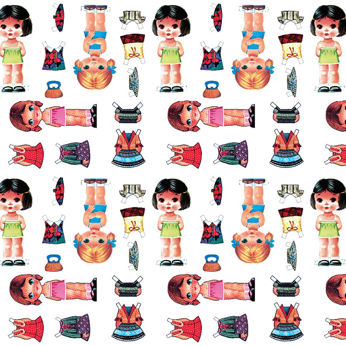 Plakplastic zelfklevende folie - Kitsch Kitchen - Dressed up girl