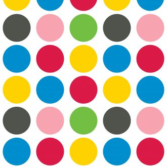 Plakplastic zelfklevende folie - Kitsch Kitchen - Dots (stippen)