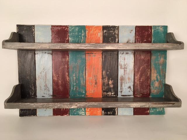 Wandbord (hang) met twee planken