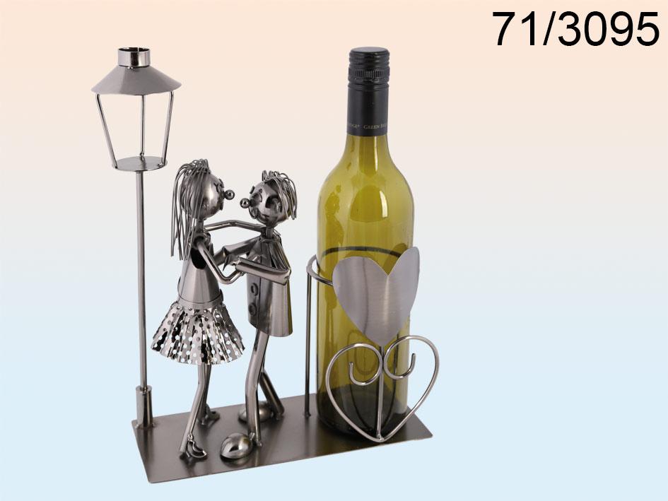 Wijnfleshouder dansend koppel