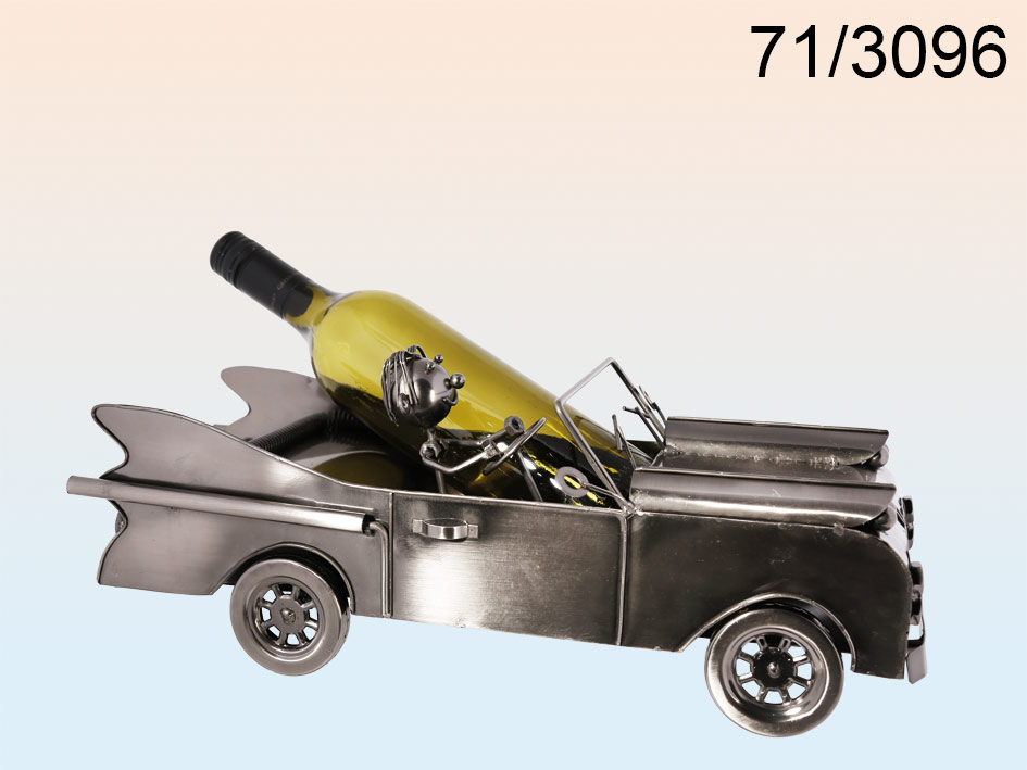 Wijnfleshouder auto met chauffeur