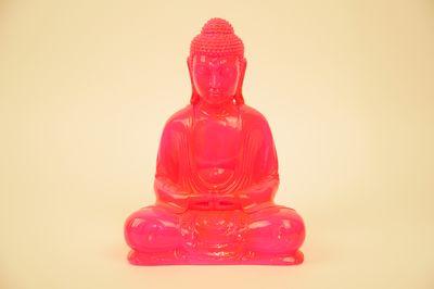 Kleuren Buddha neon roze (diverse afmetingen)