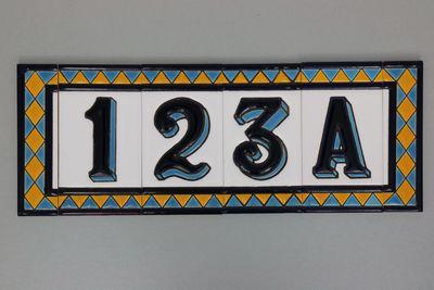 Huisnummer bont (diverse variaties mogelijk)