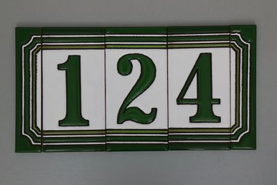 Huisnummer groen