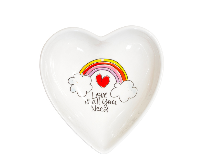 Blond Amsterdam hart kom 16,5cm love is all you need