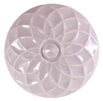 Keramische knop - bloem reliëf kn1009
