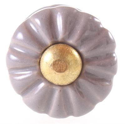 Keramische knop - brocant taupe kn1027
