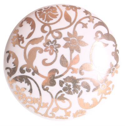 Keramische knop - gouden opdruk kn1122