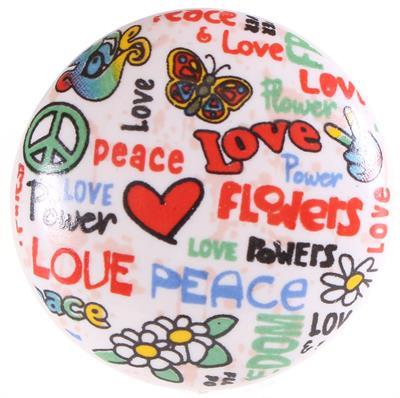 Keramische knop - Peace & Love kn2500