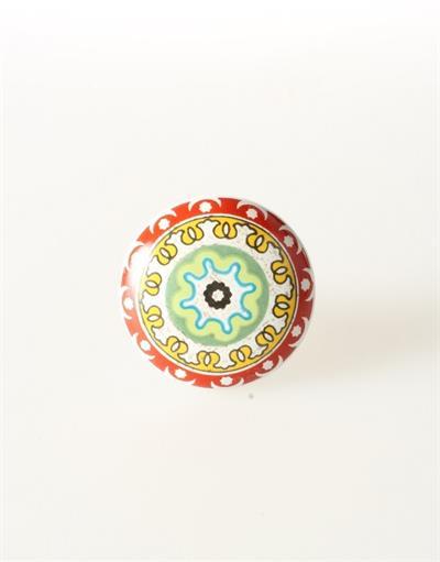 Keramische knop - rood/geel/groen kn643