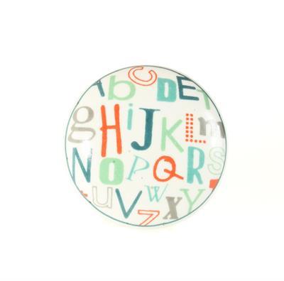 Keramische knop - letters kn718