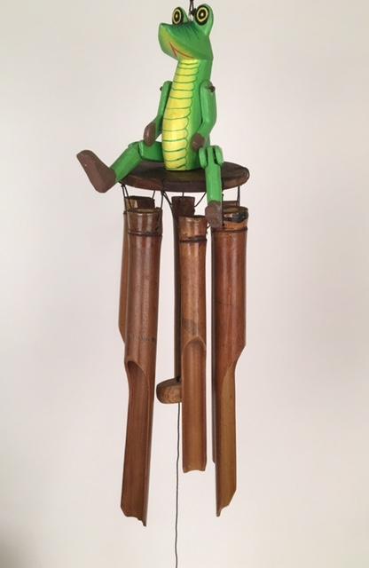 Krokodil bamboe windgong 50440