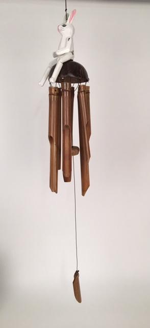 Konijn bamboe windgong 50441