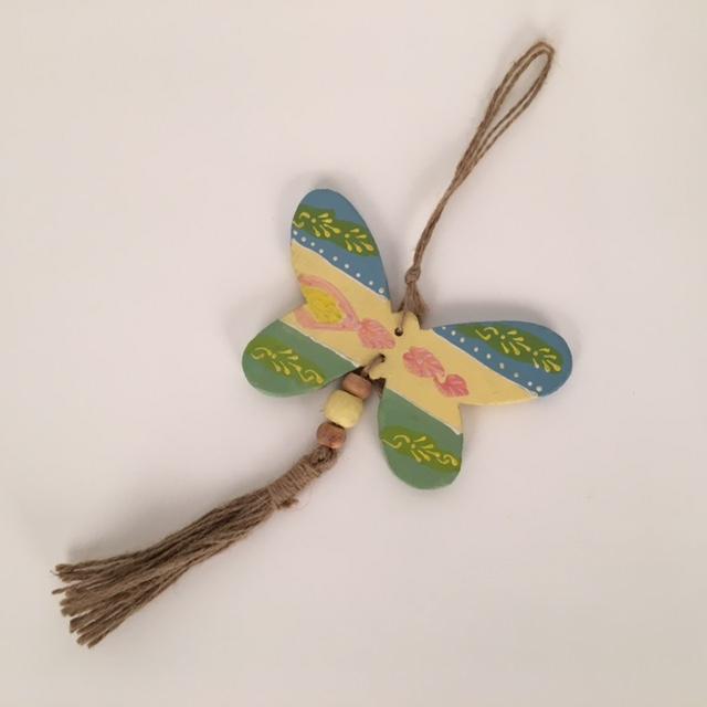 houten vlinder aan touw 50930