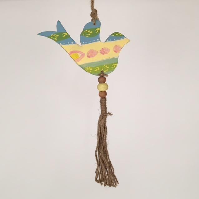 houten vogel aan touw 50931