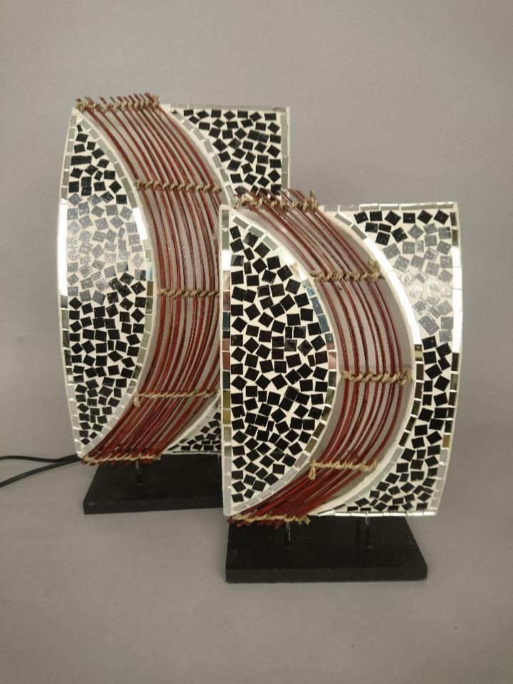 mozaïek rieten staanlamp 50836 50837