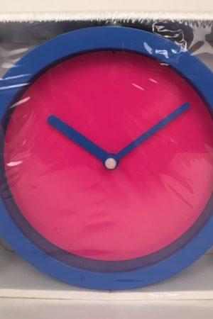 neon klok blauw roze 50752