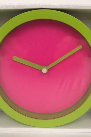 neon klok groen roze 50751