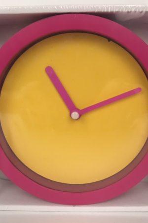 neon klok roze geel 50753