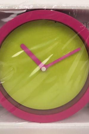 neon klok roze groen 50754