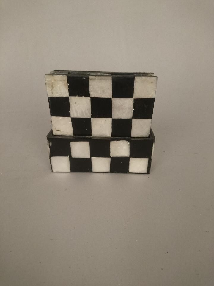 onderzetters schaakbord capiz 50844
