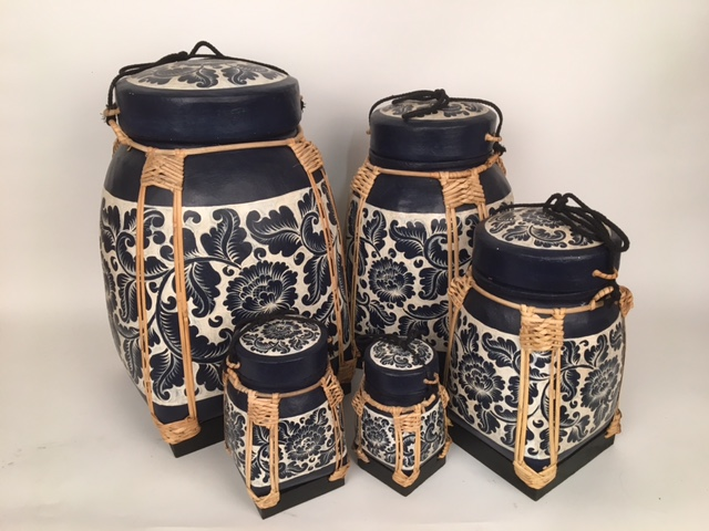 rice pot blauw wit 50731