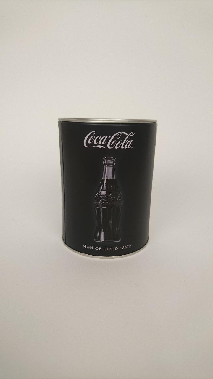 spaarpot nostalgic art coca-cola zwart 50769