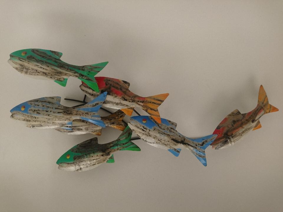 Multicolour kleine school vissen 50971