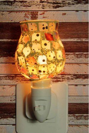 Nachtlampje glas mozaiek beige - Night Light Collection