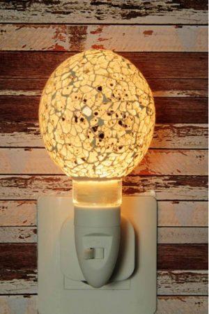 Nachtlampje glas mozaiek egg white - Night Light Collection