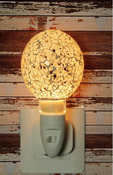 Nachtlampje glas mozaiek egg white - Night Light Collection