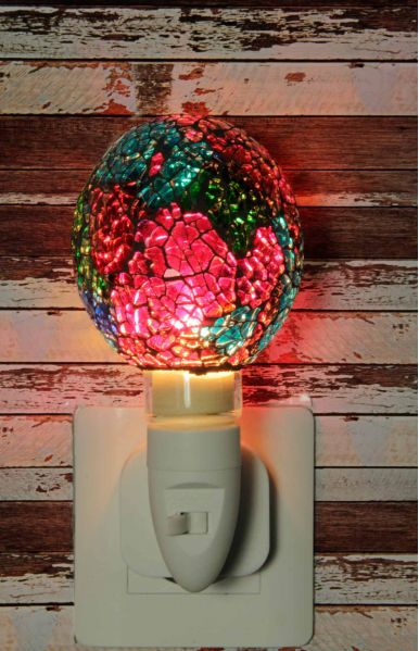 Nachtlampje glas mozaiek rood/groen/blauw - Night Light collection
