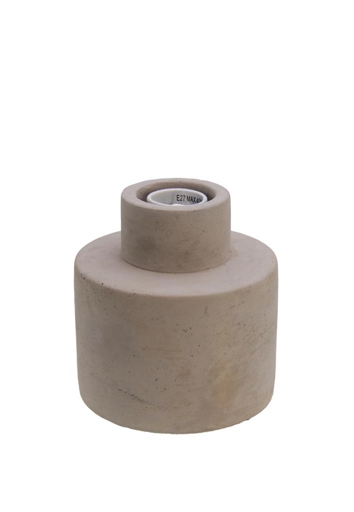 700561 Beton Lamp rond 13x14cm