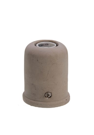 700562 Beton Lamp rond smal 9x11cm