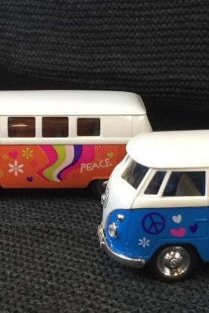 VW bus Flower Power 1962 - diverse kleuren