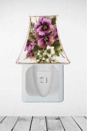 Nachtlampje Purple White Flower - Night Light Collection