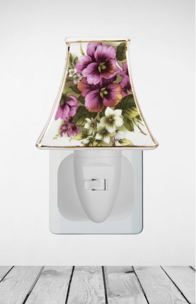 Nachtlampje Purple White Flower - Night Light Collection