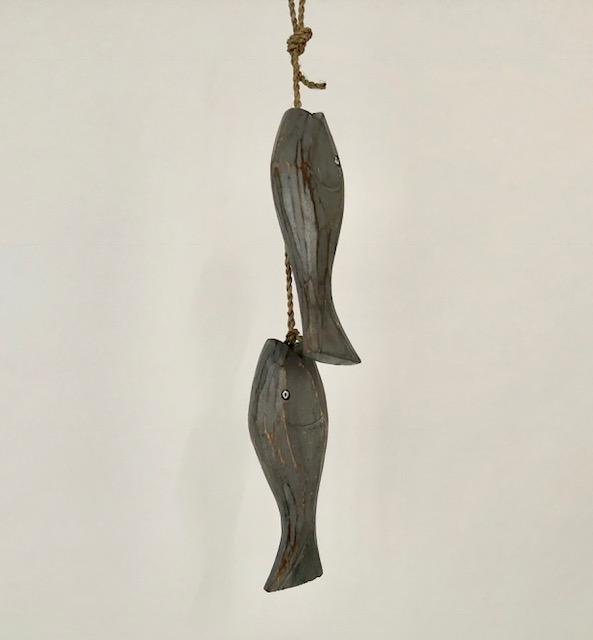 Vissen aan touw - grijs HG-011