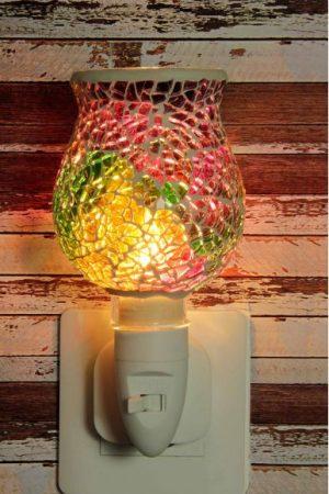 500183 Nachtlampje glas mozaiek multi-colored (tulpvorm) - Night Light Collection