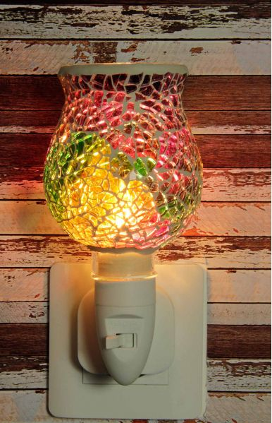 500183 Nachtlampje glas mozaiek multi-colored (tulpvorm) - Night Light Collection