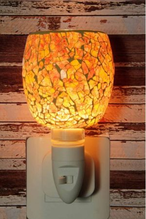 500191 Nachtlampje glas mozaiek creme/color - Night Light Collection