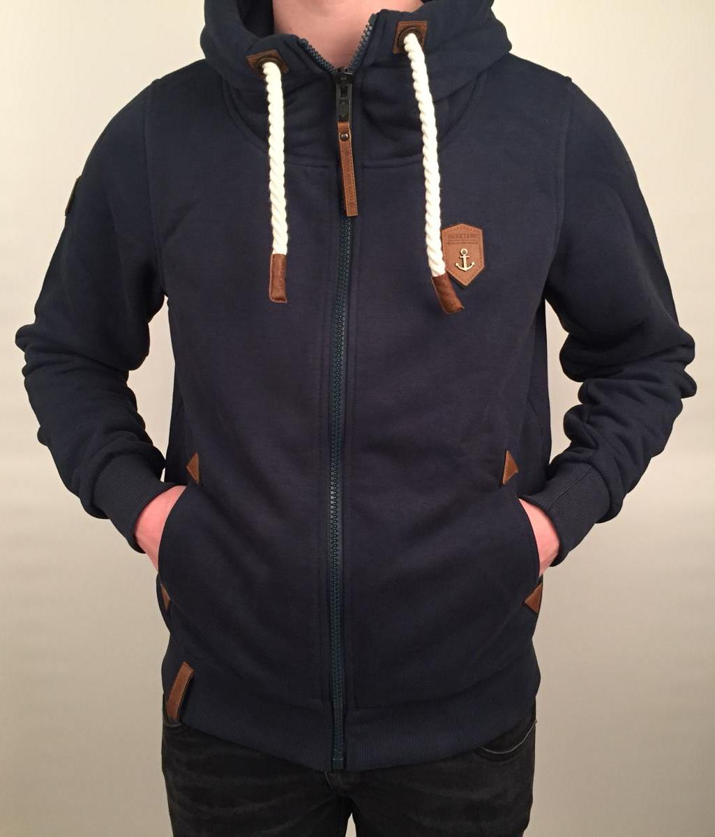 Naketano Heren - Schwarzkopf Hoodie (Dirty Dark Blue Melange)