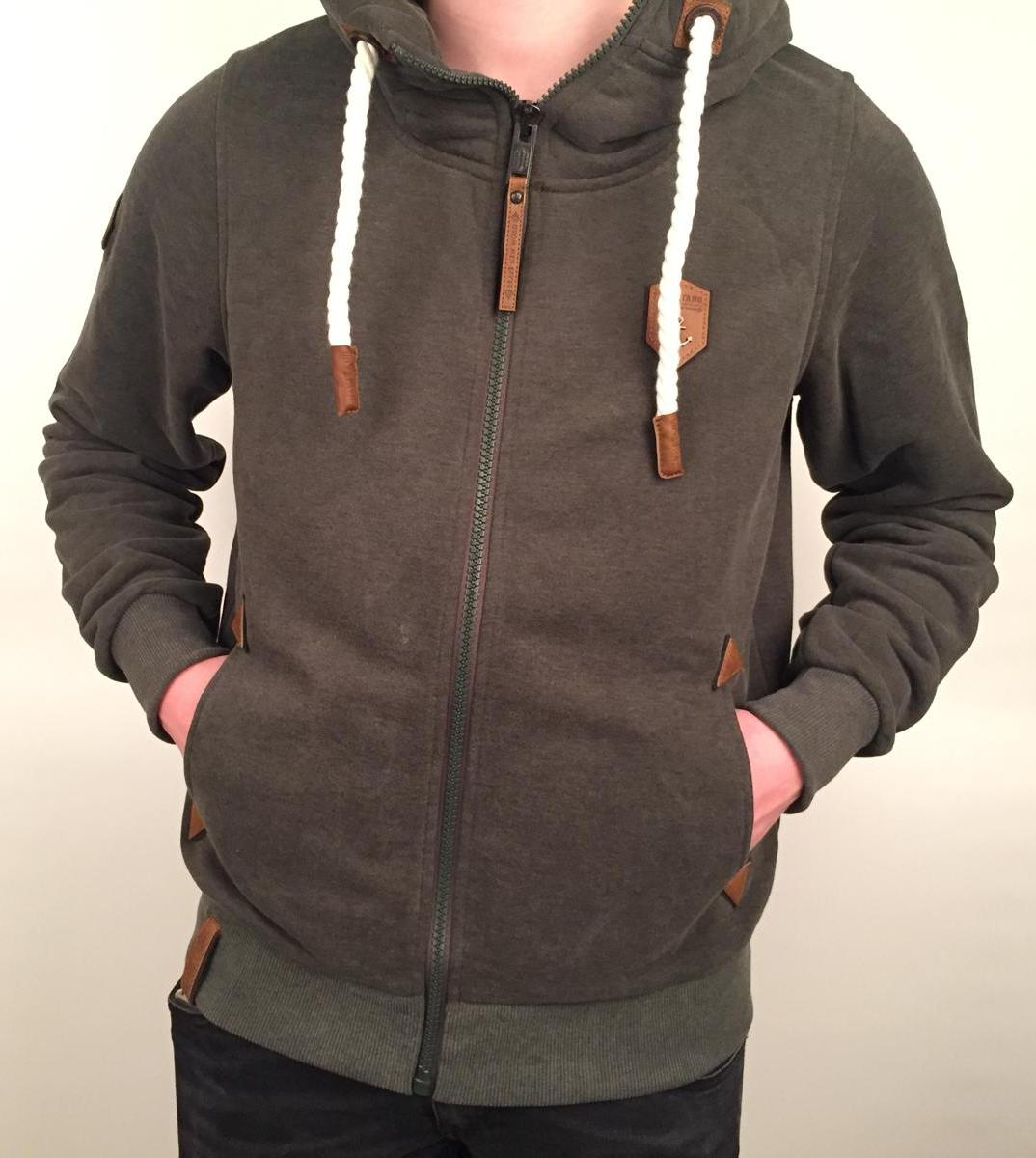 Naketano Heren - Schwarzkopf Hoodie (Dirty Leaf Green Melange)