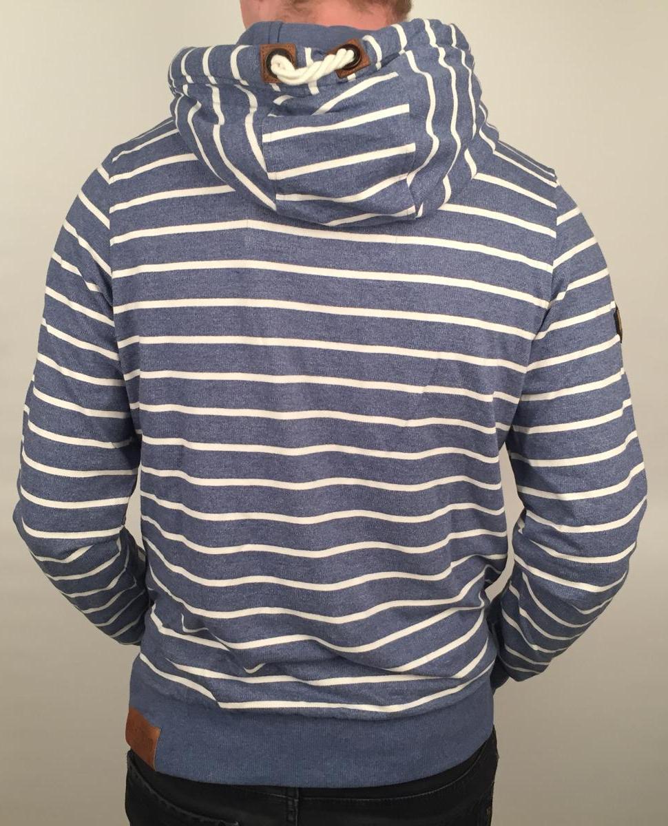 Naketano Heren - Hoodie (Warum eigentlich ficken Blue Melange) achterzijde