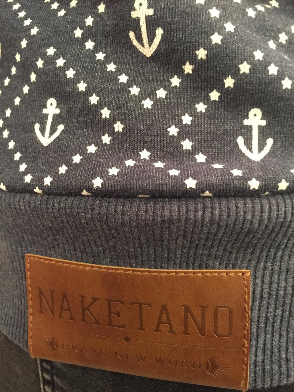 Naketano Dames - Jennifer Hart Hoodie (Indigo Blue Melange) close up