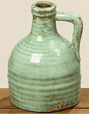 vaas-met-handvat-aardewerk-lime-groen-1004822