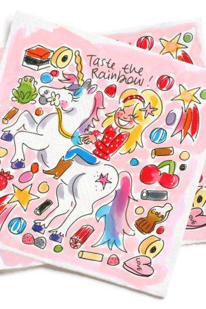 Blond Amsterdam Unicorn set servetten