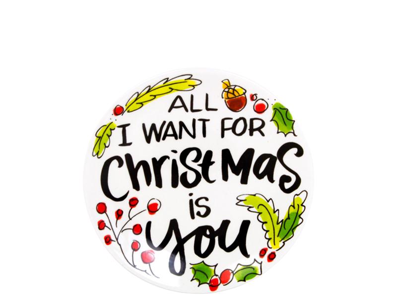Blond Amsterdam bordje 12cm Merry Little Kerst 2018